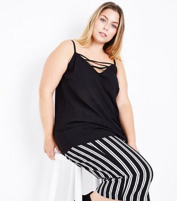 Curves Black Lattice Front Cami Top