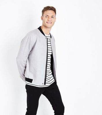 Pale Grey Smart Bomber