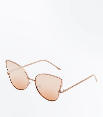Rose Gold Holographic Cat Eye Sunglasses