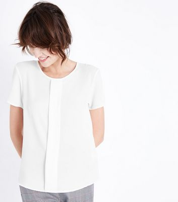 JDY White Placket Front Top