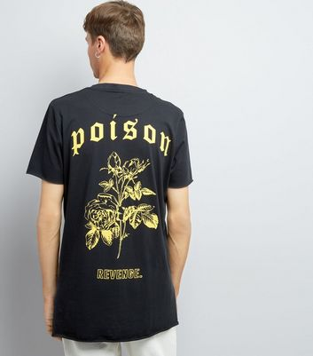 Black Poison Back Print T-Shirt