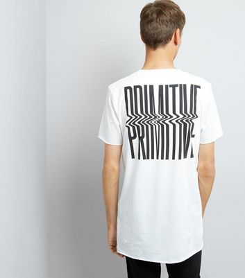 White Primitive Print T-Shirt