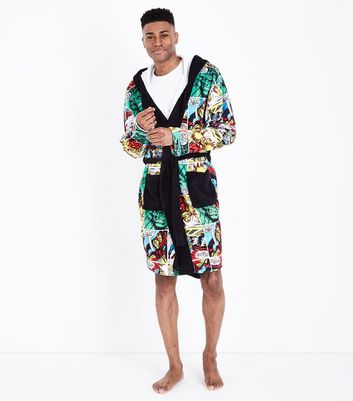 Multi Coloured Marvel Dressing Gown