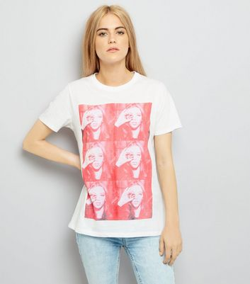 White Photograph Print T-Shirt