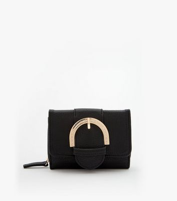 Black Crystal Buckle Purse