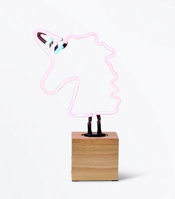 Neon Pink Unicorn Table Lamp   New Look