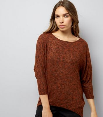 Brown Batwing Sleeve Top