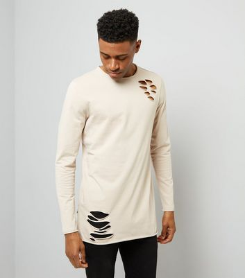 Stone Ripped Long Sleeve T-Shirt