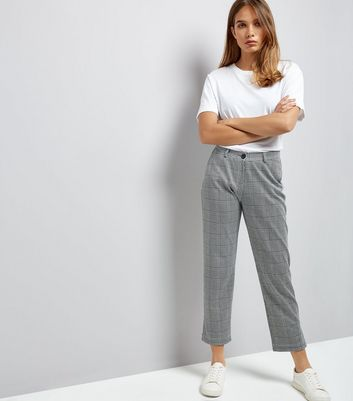 Innocence Black Check Cropped Trousers