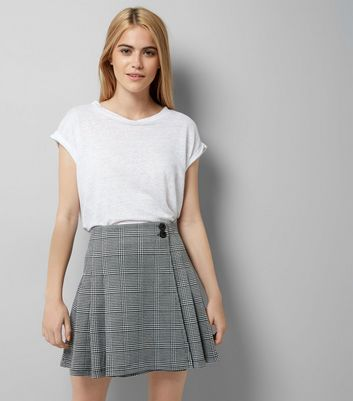 Innocence Black Check A Line Skirt