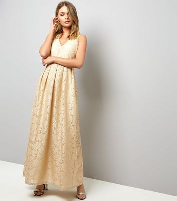 Mela Stone Leaf Embossed Maxi Dress
