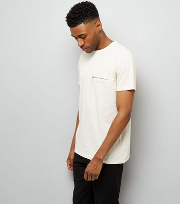 Shell Pink Zip Pocket T-Shirt