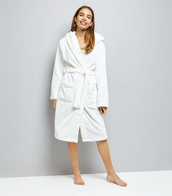 Cream Embossed Robe