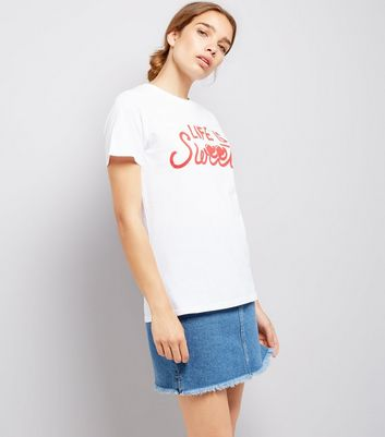 White Life Is Sweet T-Shirt