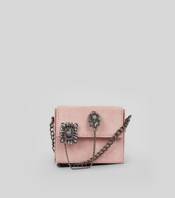Pink Micro Embellished Cross Body Bag