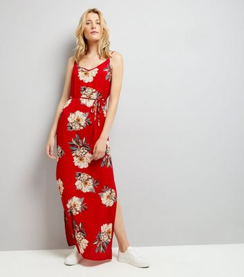 AX Paris Red Floral Maxi Dress