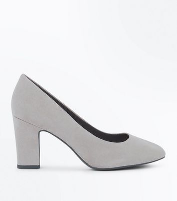 Wide Fit – Graue, bequeme Pumps