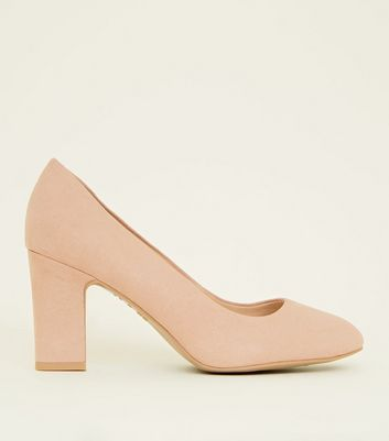 Wide Fit Nude Comfort Flex Court Shoes