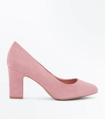 Wide Fit Pink Comfort Flex Court Shoes