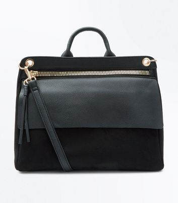 Black Satchel Shoulder Bag
