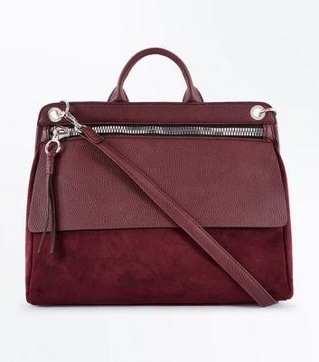 Burgundy Satchel Shoulder Bag