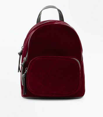 Red Velvet Chunky Zip Mini Backpack