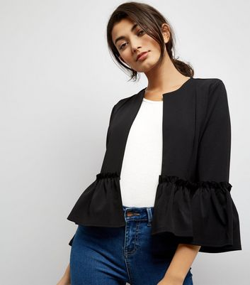 Cameo Rose Black Peplum Jacket