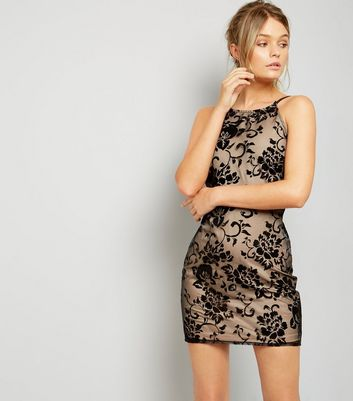 Parisian Black Lace Bodycon Mini Dress