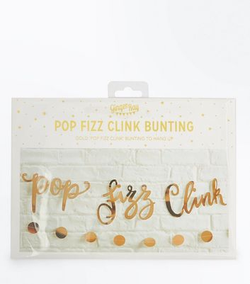 Gold Pop Fizz Clink Bunting
