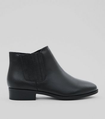 Bottines Chelsea Wide Fit en cuir noir