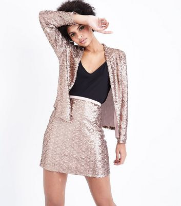 Rose Gold Sequin Blazer