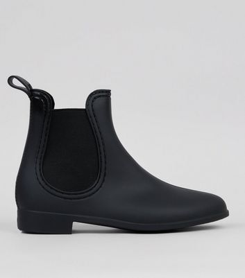 Black Matte Chelsea Wellies