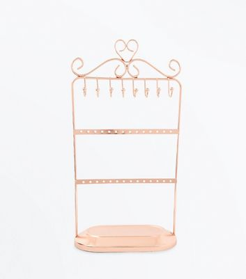 Rose Gold Jewellery Stand Holder