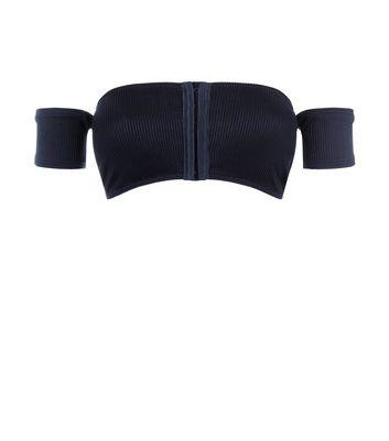 New Look - Haut de bikini noir à col Bardot et fermeture par agrafes - 2