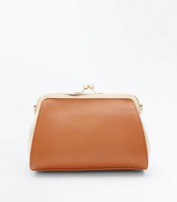Tan Contrast Oversized Bag