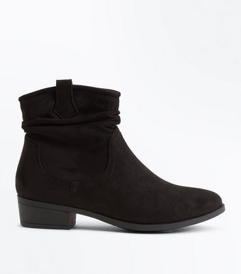 Teens Suedette Slouch Western Boots