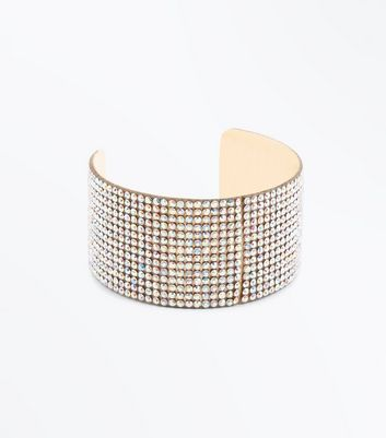 Gold Diamante Cuff