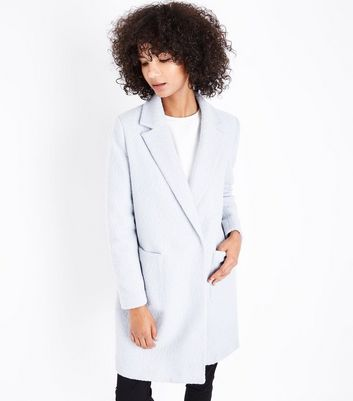 Pale Blue Cocoon Coat