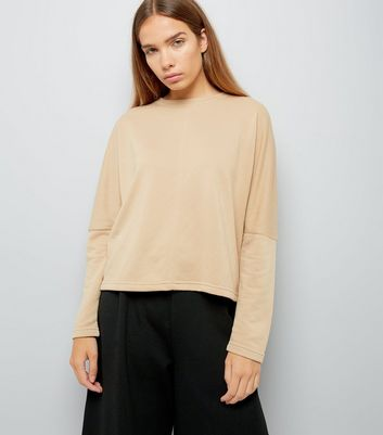 Camel Batwing Sleeve Slouchy Sweater