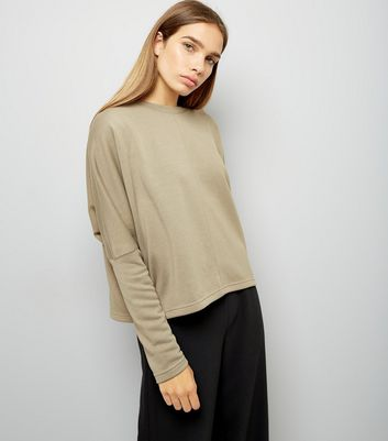 Olive Green Batwing Sleeve Sweater