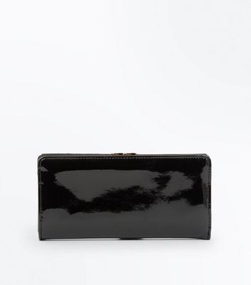 Black Patent Leather Look Purse