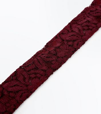 Burgundy Wide Lace Choker