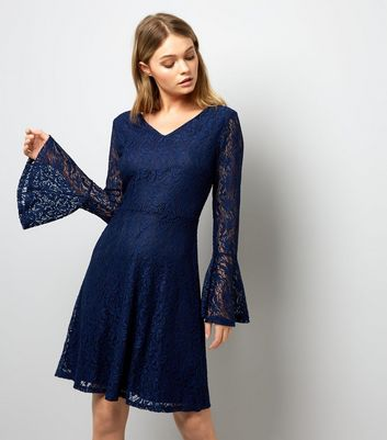 Mela Nacy Lace Bell Sleeve Dress