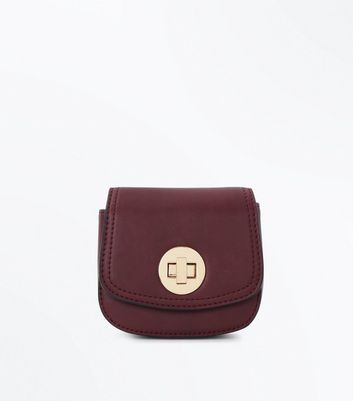 Burgundy Clip On Micro Bag