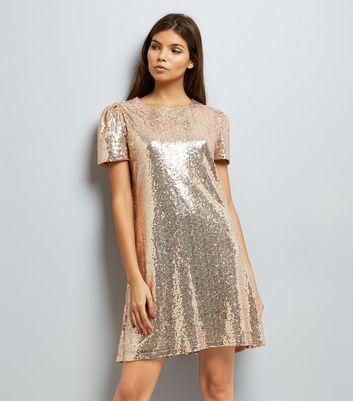Mela Gold Sequin Cap Sleeve Dress