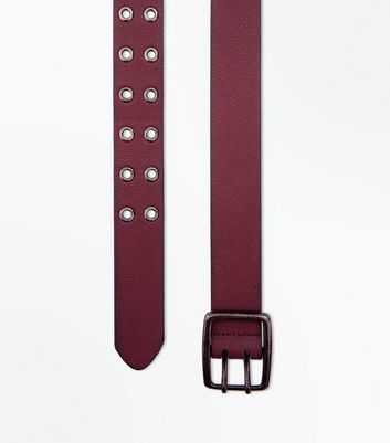 Burgundy Double Hole Belt