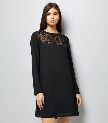 Mela Lace Yoke Shift Dress