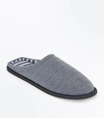 Navy Mule Slippers