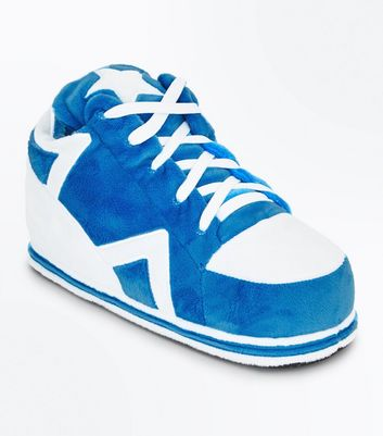 Bright Blue Trainer Slippers