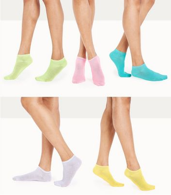 5 Pack Coloured Trainer Socks